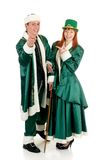 St Patrick holiday couple Royalty Free Stock Image
