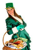 St Patrick holiday woman Royalty Free Stock Photo