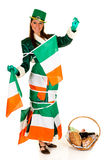 St Patrick holiday woman Stock Photo