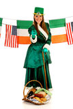 St Patrick holiday woman Royalty Free Stock Image