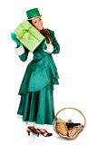 St Patrick holiday woman Royalty Free Stock Photos