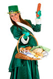 St Patrick holiday woman Stock Photos