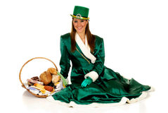 St Patrick holiday woman Stock Image