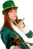 St Patrick holiday woman Royalty Free Stock Images