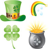 St. patrick  icon set Royalty Free Stock Images