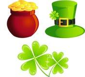 St. Patrick icons Stock Image