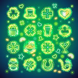 St Patrick Icons with Sparkles Stock Photography