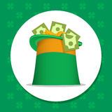 St Patrick Ierse hoed Royalty-vrije Stock Fotografie