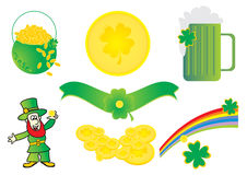 St. Patrick illustrations Royalty Free Stock Photography