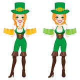 St Patrick Irish Leprechaun Girl Image stock