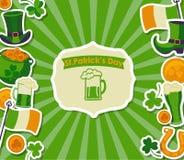 St Patrick kaart Royalty-vrije Stock Foto