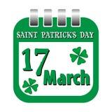 St Patrick kalenderark Royaltyfri Foto
