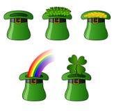 St. Patrick kapelusze Zdjęcia Stock