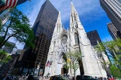 St Patrick Kathedraal in de Stad van New York stock foto's