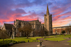 St Patrick Kathedraal in Dublin, Ierland Stock Foto's