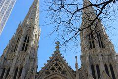 St Patrick Kathedrale, New York City Stockfotos