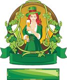 St. Patrick label Royalty Free Stock Photography