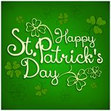 St. Patrick lettering on green Stock Photography