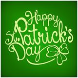 St. Patrick lettering on green Stock Photo