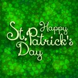 St. Patrick lettering Royalty Free Stock Photo