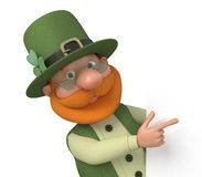 St Patrick mit Anschlagtafel Stockfotos