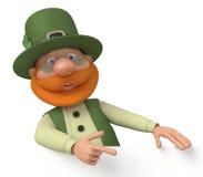 St Patrick mit Anschlagtafel Stockfotografie