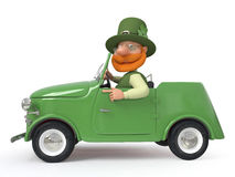 St Patrick mit dem Auto Lizenzfreie Stockfotografie
