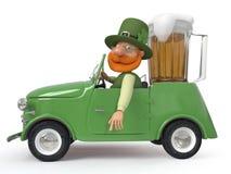 St Patrick mit dem Auto Lizenzfreies Stockfoto