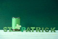 St Patrick ord och en trollhatt Royaltyfria Foton