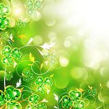 St.Patrick Over Bright Background Stock Photography