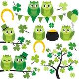 St. Patrick Owls Lizenzfreies Stockfoto