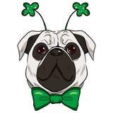 St Patrick Pug Dog Illustration Libre de Droits