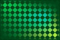 St Patrick's argyle. Argyle pattern with shamrocks in St. Patty's favorite shades of green Royalty Free Stock Photo