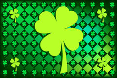 St Patrick's argyle Shamrocks Royalty Free Stock Images