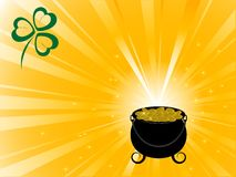 St.Patrick's background. Abstract background with St.Patrick's cauldron Vector Illustration