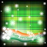 St Patrick's background with checks. St Patrick background with green checks and four leaves clover Royalty Free Stock Images