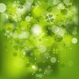 St. Patrick's background with clover Stock Photo