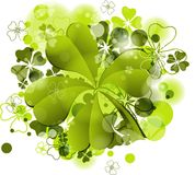 St. Patrick's background with clover Stock Images
