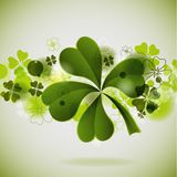 St. Patrick's background with clover. Illustration, eps10 royalty free illustration