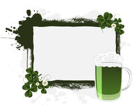 St. Patrick's banner. St. Patrick's green beer and clovers, banner Royalty Free Stock Photography