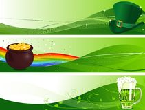 St. Patrick's Banners stock illustration
