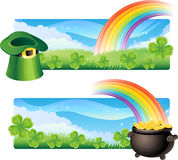 St. patrick's banners Royalty Free Stock Image