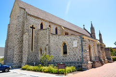 St. Patrick's Basilica: Federation Gothic Architecture in Limestone Royalty Free Stock Photos