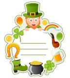St Patrick s bokomslag inramar Royaltyfri Foto