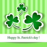 St Patrick's card Royalty Free Stock Images