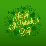 St. Patrick's card with clover and typography Stock Photography
