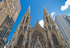 St. Patrick's Cathedral. Low angle view of St. Patrick's Cathedral Royalty Free Stock Images