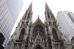 St. Patrick's Cathedral. A Roman Catholic Church in New York City. Located on 5th Avenue between 50th and 51st street, the construction of this neo-gothic Stock Photography