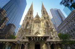 St. Patrick's Cathedral. Exterior of St. Patrick's Cathedral in New York, New York Stock Image