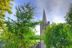 St. Patrick`s Cathedral in Dublin, Ireland royalty free stock images